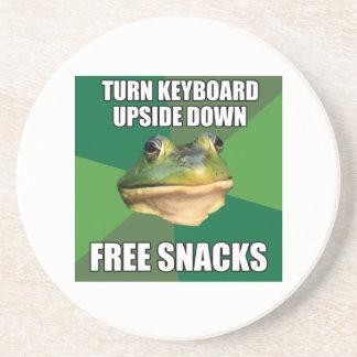 Foul Bachelor Frog Free Snscks Coaster