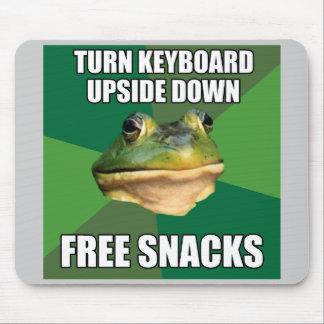 Foul Bachelor Frog Free Snscks Mouse Pad