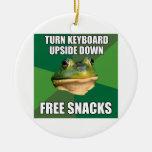 Foul Bachelor Frog Free Snscks Ornaments