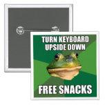 Foul Bachelor Frog Free Snscks Pinback Buttons