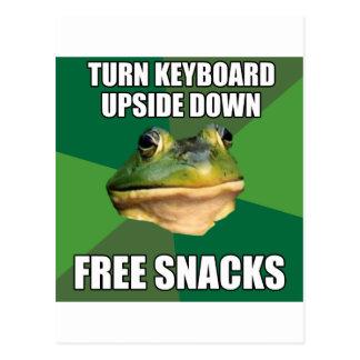 Foul Bachelor Frog Free Snscks Postcard
