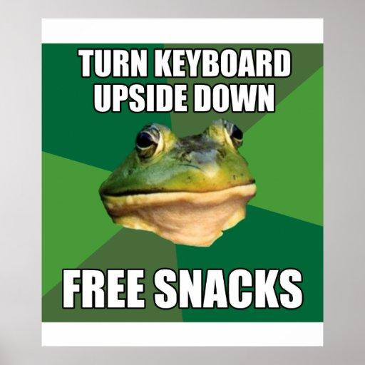 Foul Bachelor Frog Free Snscks Posters