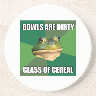 Foul Bachelor Frog Glass of Cereal Coaster