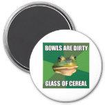 Foul Bachelor Frog Glass of Cereal Refrigerator Magnets