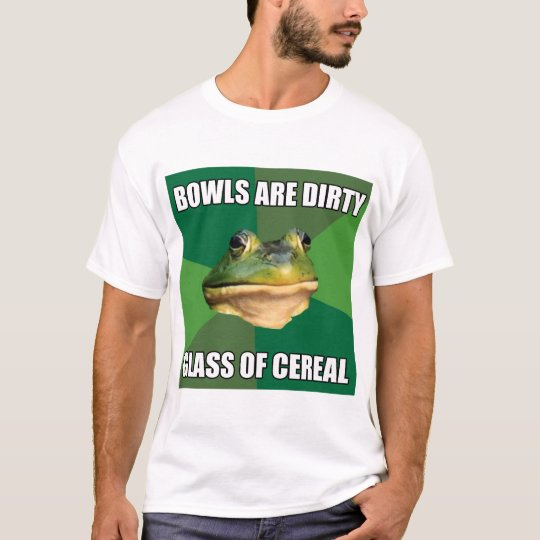 Foul Bachelor Frog Glass of Cereal T-Shirt
