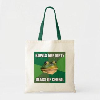 Foul Bachelor Frog Glass of Cereal Tote Bag
