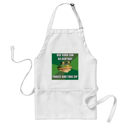 Foul Bachelor From Ashtray Can Adult Apron