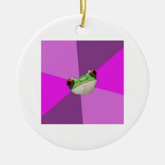Foul Bachelorette Frog Advice Animal Meme Ceramic Ornament