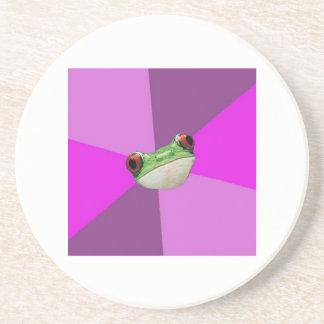 Foul Bachelorette Frog Advice Animal Meme Beverage Coaster