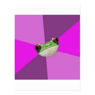 Foul Bachelorette Frog Advice Animal Meme Postcard