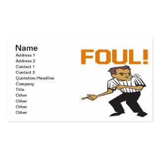 Foul Business Card