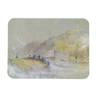 Foul by God: River Landscape with Anglers Fishing Rectangular Photo Magnet