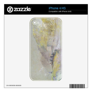 Foul by God: River Landscape with Anglers Fishing Decal For The iPhone 4