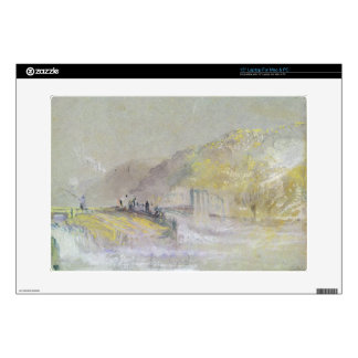 Foul by God: River Landscape with Anglers Fishing Skin For Laptop