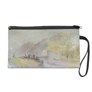 Foul by God: River Landscape with Anglers Fishing Wristlet