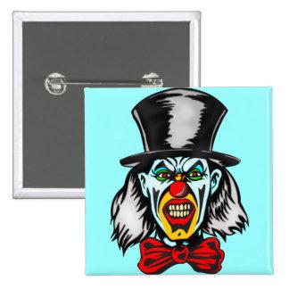 Foul Evil Clown 2 Inch Square Button