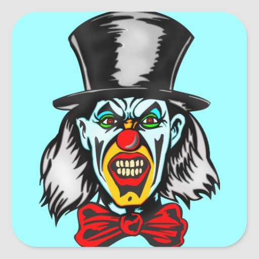 Foul Evil Clown Square Sticker