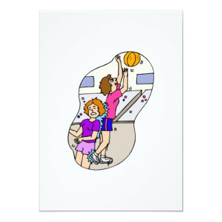 foul up for the layup 5x7 paper invitation card