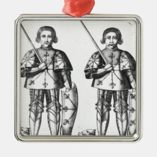 Foulques III Nerra   and Geoffroy II Martel Metal Ornament
