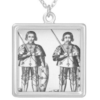 Foulques III Nerra   and Geoffroy II Martel Square Pendant Necklace