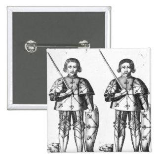 Foulques III Nerra   y Geoffroy II Martel Pin Cuadrada 5 Cm