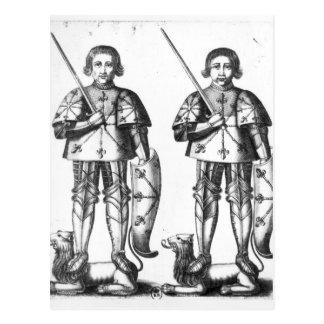 Foulques III Nerra   y Geoffroy II Martel Tarjeta Postal