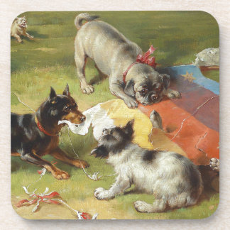 Found a Toy by Frank Paton Beverage Coaster
