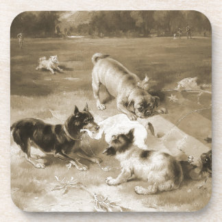 Found a Toy by Frank Paton Drink Coaster