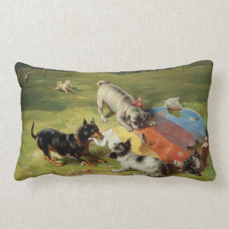 Found a Toy by Frank Paton Lumbar Pillow