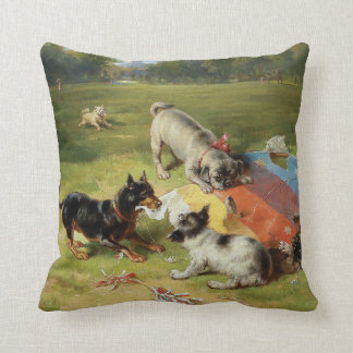 Found a Toy by Frank Paton Pillow