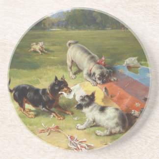 Found a Toy by Frank Paton Sandstone Coaster