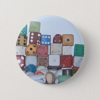 Found at the Beach Found Objects Pinback Button