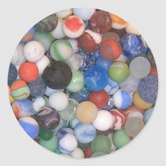Found at the Beach Marbles Classic Round Sticker