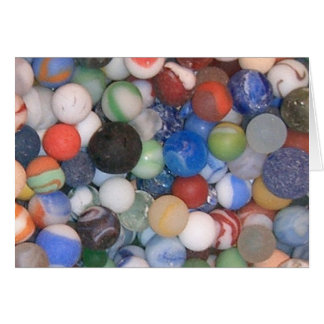 Found at the Beach Marbles Greeting Card
