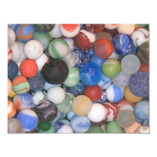 Found at the Beach Marbles Personalized Invitation