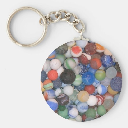 Found at the Beach Marbles Keychain