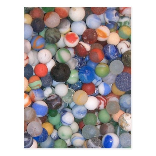 Found at the Beach Marbles Post Card
