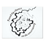"""Found by chance on the uncertainty 4.25"""" x 5.5"""" invitation card"""
