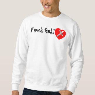 Found God? - Jesus Saves (Heart) Pullover Sweatshirt