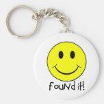 Found It! Basic Round Button Keychain