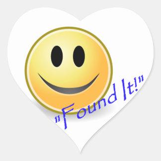 Found It! Geocaching Heart Sticker