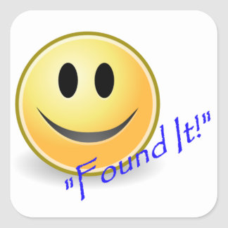 Found It! Geocaching Square Sticker