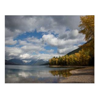 found lake in glacier national park postcard