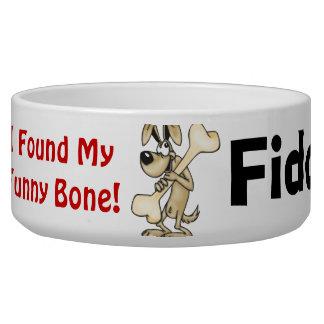 Found My Funny Bone Customized Dog Bowls