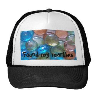Found my marbles trucker hat