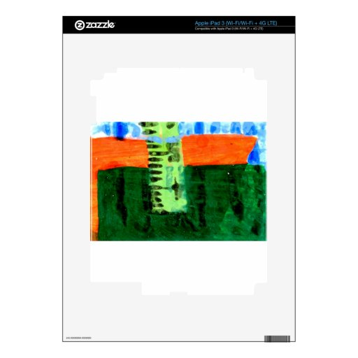found objects iPad 3 decal