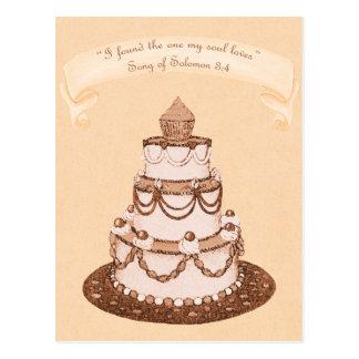 Found One Soul Loves~Wedding Cake Scripture Postcard