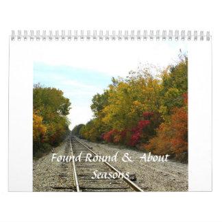 Found Round & About - Seasons Calendar 2014