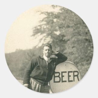"""Found the Beer!"" Classic Round Sticker"