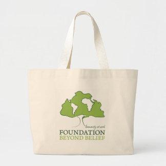 Foundation Beyond Belief logo Large Tote Bag